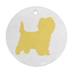 Cairn Terrier Silo Cream Round Ornament (two Sides)