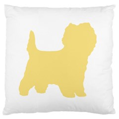 Cairn Terrier Silo Cream Large Cushion Case (two Sides)