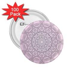 Pink Mandala Art  2 25  Buttons (100 Pack)