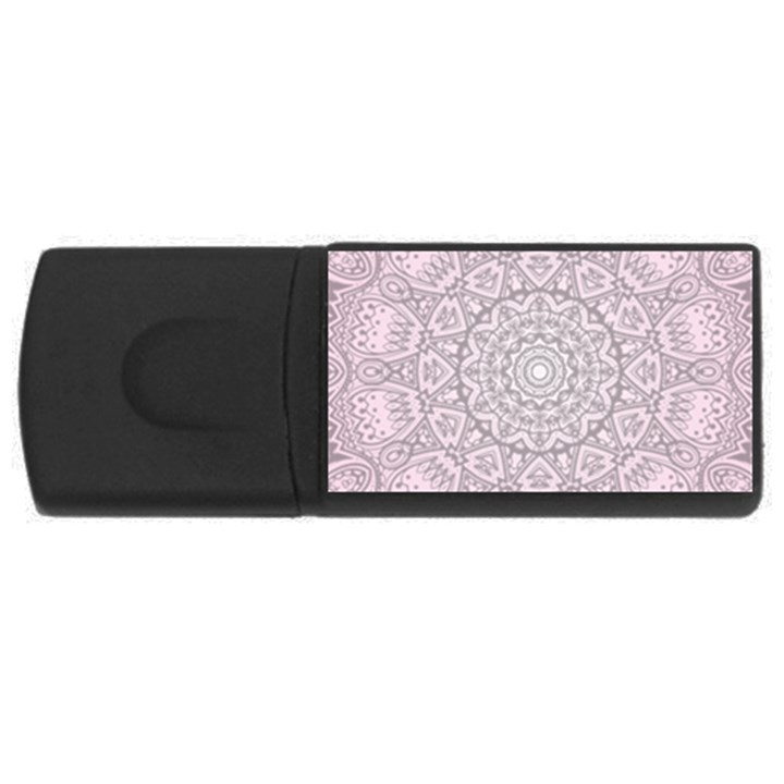 Pink Mandala art  Rectangular USB Flash Drive
