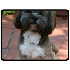 Lhasa Apso Shaved Double Sided Fleece Blanket (large)