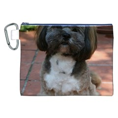 Lhasa Apso Shaved Canvas Cosmetic Bag (xxl)