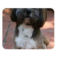 Lhasa Apso Shaved Double Sided Flano Blanket (large)