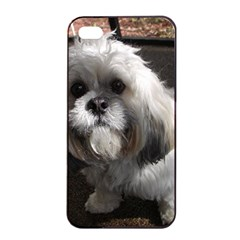 Lhasa Apso Sitting Apple Iphone 4/4s Seamless Case (black)