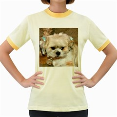 Lhasa Apso Groomed Women s Fitted Ringer T Shirts