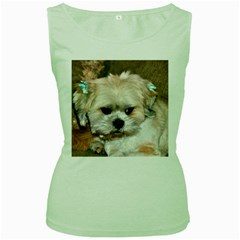 Lhasa Apso Groomed Women s Green Tank Top
