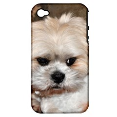 Lhasa Apso Groomed Apple Iphone 4/4s Hardshell Case (pc+silicone)