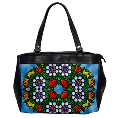 Cute Floral Mandala  Office Handbags