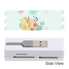 Watercolor Floral Blue Cute Butterfly Illustration Memory Card Reader (stick)