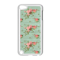 Vintage Blue Wallpaper Floral Pattern Apple Ipod Touch 5 Case (white)