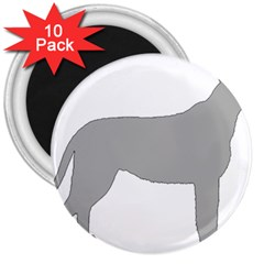 Irish Wolfhound Silo Color 3  Magnets (10 Pack)