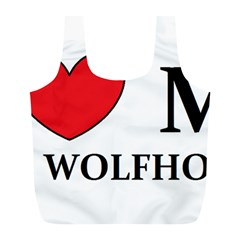 Irish Wolfhound Love Full Print Recycle Bags (l)