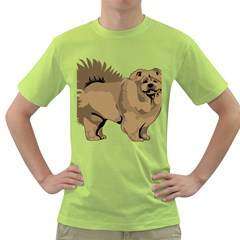Chow Chow Art Green T Shirt