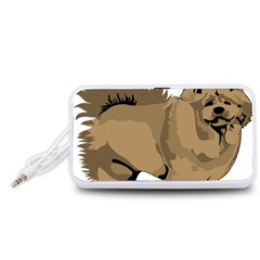 Chow Chow Art Portable Speaker (white)