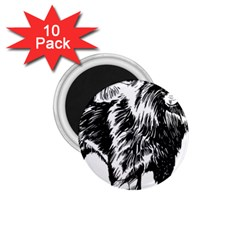 Chow Chow Drawing 1 75  Magnets (10 Pack)