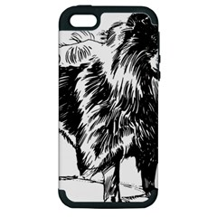 Chow Chow Drawing Apple Iphone 5 Hardshell Case (pc+silicone)