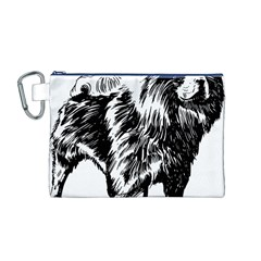 Chow Chow Drawing Canvas Cosmetic Bag (m)