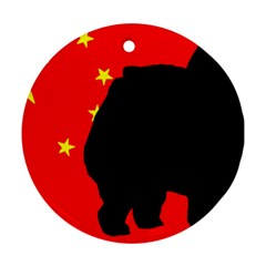 Chow Chow Silo China Flag Ornament (round)
