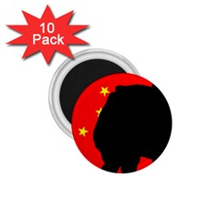 Chow Chow Silo China Flag 1 75  Magnets (10 Pack)