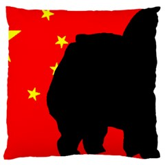 Chow Chow Silo China Flag Large Cushion Case (two Sides)