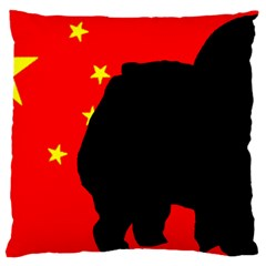 Chow Chow Silo China Flag Large Flano Cushion Case (two Sides)