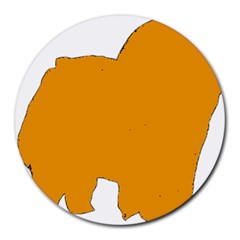Chow Chow Silo Color Round Mousepads
