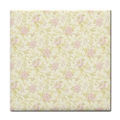 Floral Paper Pink Girly Pattern Tile Coasters