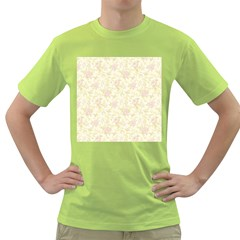 Floral Paper Pink Girly Pattern Green T Shirt