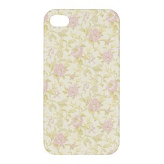 Floral Paper Pink Girly Pattern Apple Iphone 4/4s Premium Hardshell Case