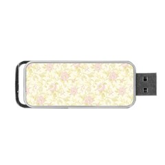 Floral Paper Pink Girly Pattern Portable Usb Flash (one Side)
