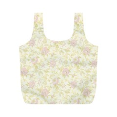 Floral Paper Pink Girly Pattern Full Print Recycle Bags (m)