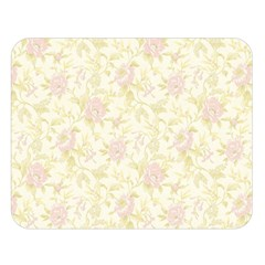 Floral Paper Pink Girly Pattern Double Sided Flano Blanket (large)