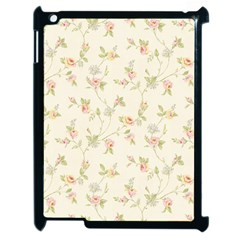 Floral Paper Pink Girly Cute Pattern  Apple Ipad 2 Case (black)