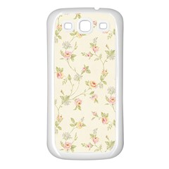 Floral Paper Pink Girly Cute Pattern  Samsung Galaxy S3 Back Case (white)