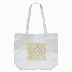 Floral Paper Pink Girly Cute Pattern  Tote Bag (white)