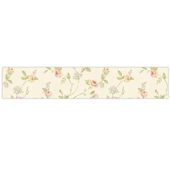 Floral Paper Pink Girly Cute Pattern  Flano Scarf (large)