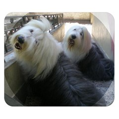 2 Old English Sheepdogs Double Sided Flano Blanket (small)