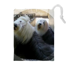 2 Old English Sheepdogs Drawstring Pouches (extra Large)