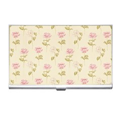 Floral Paper Illustration Girly Pink Pattern Business Card Holders