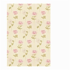 Floral Paper Illustration Girly Pink Pattern Small Garden Flag (two Sides)