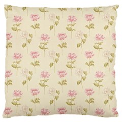 Floral Paper Illustration Girly Pink Pattern Large Cushion Case (one Side)