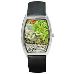 Hidden Domestic Cat With Alert Expression Barrel Style Metal Watch