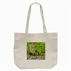 Hidden Domestic Cat With Alert Expression Tote Bag (cream)