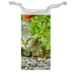Hidden Domestic Cat With Alert Expression Jewelry Bag