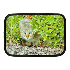 Hidden Domestic Cat With Alert Expression Netbook Case (medium)