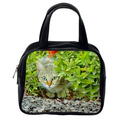 Hidden Domestic Cat With Alert Expression Classic Handbags (one Side)