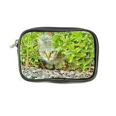 Hidden Domestic Cat With Alert Expression Coin Purse
