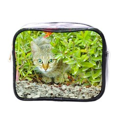 Hidden Domestic Cat With Alert Expression Mini Toiletries Bags