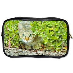 Hidden Domestic Cat With Alert Expression Toiletries Bags