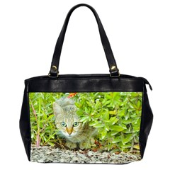 Hidden Domestic Cat With Alert Expression Office Handbags (2 Sides)